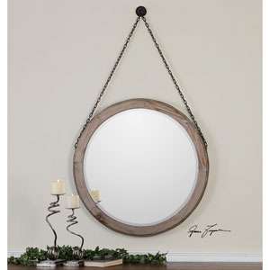 Loughlin Lightly Stained Wood Mirror