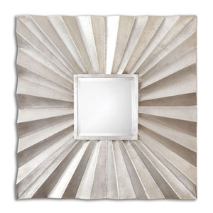 Adelmar Antiqued Silver Leaf Square Mirror