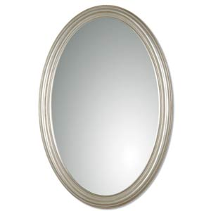 Franklin Antique Silver Leaf Oval Mirror-duplicate