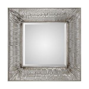 Jacenia Silver Square Mirror