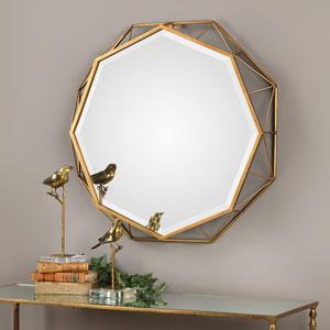 Mekhi Antiqued Gold Mirror