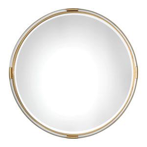 Mackai Round Gold Mirror