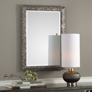 Evelina Silver Leaves Mirror