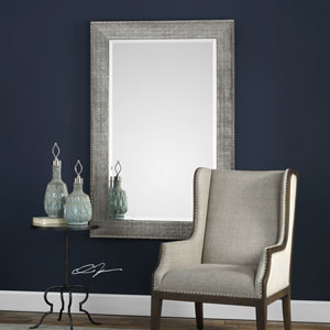 Leiston Metallic Silver Mirror