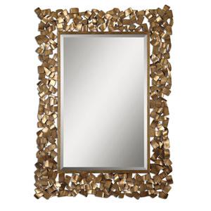 Capulin Antique Gold Metal Strip Mirror