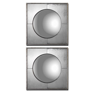 Savio Squares Champagne Silver Mirror, Set of Two