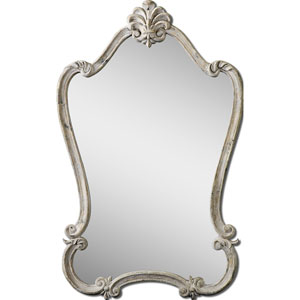 Antique White Walton Hall, White Mirror