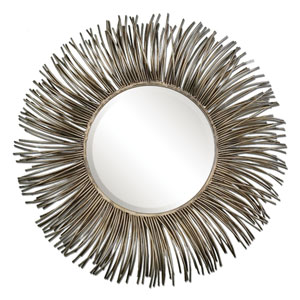 Akisha Oxidized Nickel Starburst Mirror