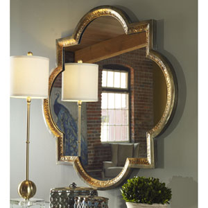 Lourosa Antique Gold 39.75-Inch Mirror