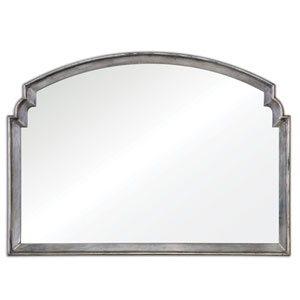 Via Della Lightly Antiqued Silver Mirror