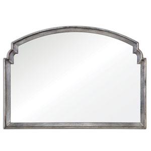 Via Della Lightly Antiqued Silver Mirror