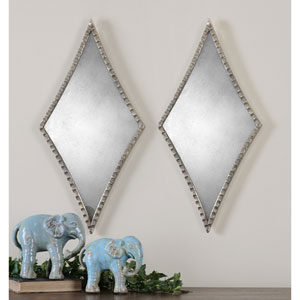 Gelston Plated Silver Mirror, Set of 2