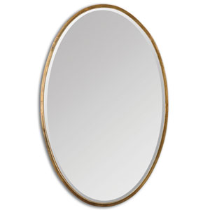 Herleva Oval Antique Gold Oval Mirror