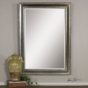 Avelina Oxidized Silver Arched Mirror