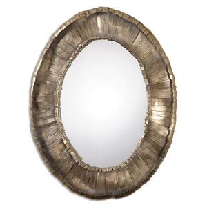 Vevila Oxidized Silver Oval Mirror