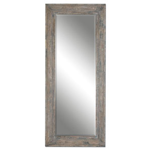 Missoula Distressed Blue and Green Leaner Mirror