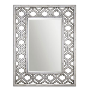 Sorbolo Antiqued Silver Mirror