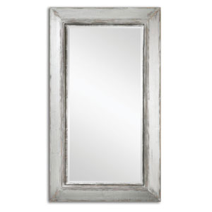 Lucanus Distressed Aged Silver and Natural Wood Mirror