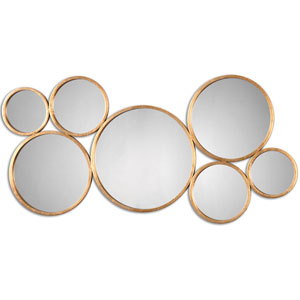 Kanna Gold Wall Mirror