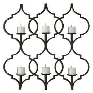 Zakaria Aged Black 35.25-Inch Wall Sconce
