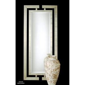 Jamal Scratched Silver Leaf Rectangular Mirror