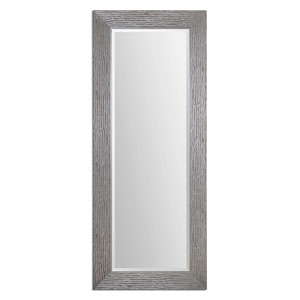 Amadeus Metallic Silver 81.5-Inch Beveled Mirror