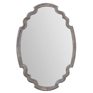 Ludovica Aged Wood 34.88-Inch Mirror