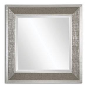Naevius Silver Leaf Square Mirror