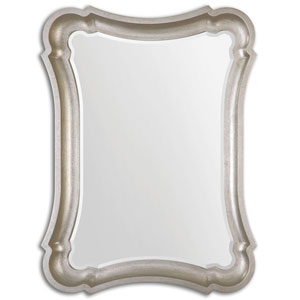 Anatolius Antiqued Silver Leaf Mirror