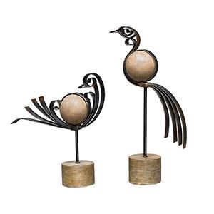 Anvi Bird Sculpture, Set of 2