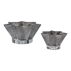 Kayden Pewter Star-Shaped Bowl, Set of Two