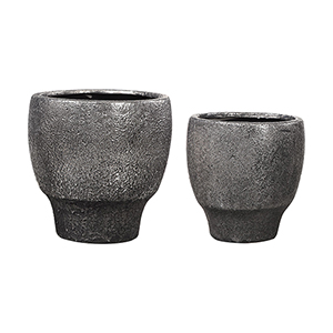 Jayda Lava Black Bowl, Set of Two