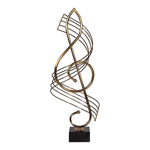 Score Brass Musical Sculpture