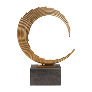 Saanvi Curved Gold Rods Sculpture