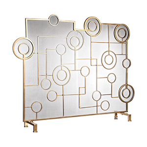 Frankie Antique Brass Fireplace Screen