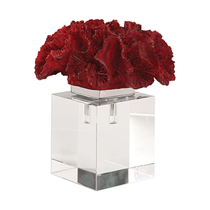 Red Coral Cluster Decorative Accessory