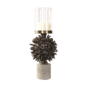 Autograph Tree Antique Bronze Candleholder
