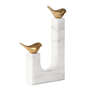 Songbirds Brass Sculpture