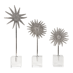 Sunflower Starfish Sculpture, Set of 3