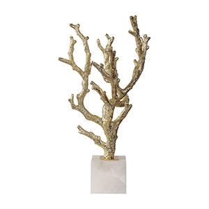 Coraline Silver Coral Sculpture