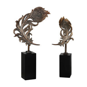 Quill Feathers Sculpture, Set of Two