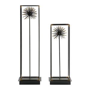 Flowering Dandelions Sculptures, Set of Two