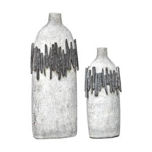 Rutva Aged Ivory Vases, Set of 2