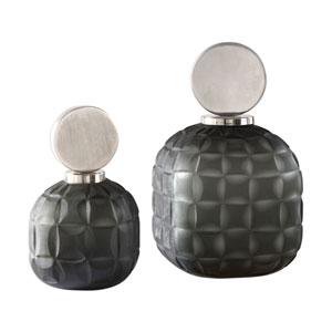 Nafuna Charcoal Glass Bottles, Set of Two