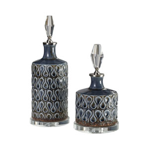 Varuna Cobalt Blue Bottles, Set of Two