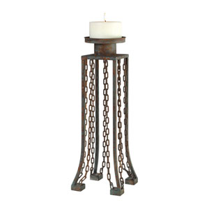 Danu Aged Iron Candleholder
