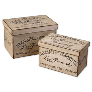 Chocolaterie Boxes, Set of Two