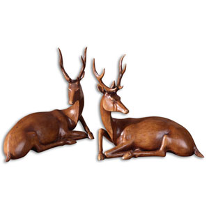 Buck Statues, Set of Two