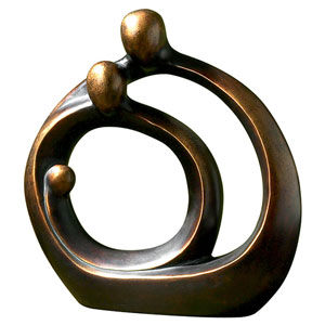 Family Circles Bronze Patina Sculpture