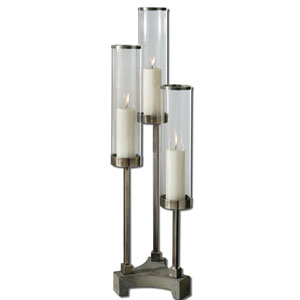 Brushed Aluminum Risto Candleholder